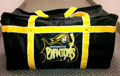 Custom bag for the Bracebridge Phantoms @GitchSW Facebook - Gitch Sportswear Hockey Bags, Christian Clothing, Custom Bags, Coach Bags, Diaper Bag, Coaching, Sportswear, Facebook, Clothes