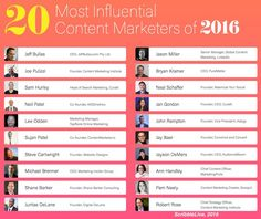 It's awesome to see 2 of our clients & our CEO on this list of Most Influential Content Marketers  ScribbleLive