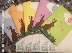 Easter Cards Set of 5 in Assorted Colors  – Tamm's Marketplace