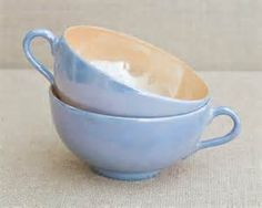 Vintage Blue Tea Cups