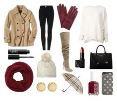 Cozy Fall by reesepelletier on Polyvore featuring polyvore, fashion, style, URBAN ZEN, Lands' End, Kristin Cavallari, MICHAEL Michael Kors, Marc by Marc Jacobs, Wyatt, Burberry, UGG Australia, John Lewis, Kate Spade, NARS Cosmetics, Essie and clothing