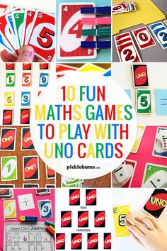 Ten fun maths games you can play with Uno cards #kidsactivities #math #learningisfun