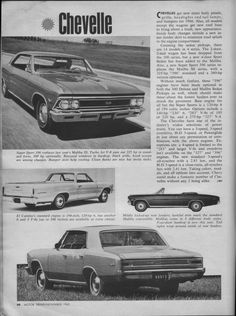 1966 magazine scans - articles and ads - Chevelle Tech