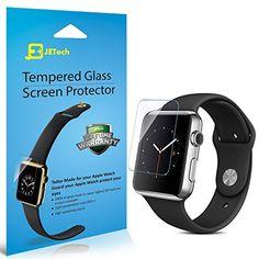 Apple Watch Schutzfolie, JETech® 2-Pack 42mm Gehärtetem Glas Displayschutz Schutzfolie Screen Protector für Apple Watch
