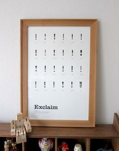 Exclaim Typography Poster