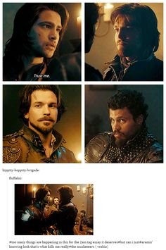 The Musketeers - 1x02 - Sleight Of Hand, Oh the feels! So much is said without saying a word <3