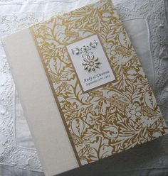 Personalized Wedding Photo Album Ivory and Gold Album  by Daisyblu @Dianesonnheim