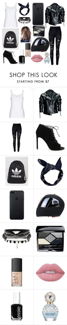 """I Knew I Could Where These Shoes on a Motorcycle"" by oliviaboston ❤ liked on Polyvore featuring Leka, Yves Saint Laurent, adidas, Boohoo, Christian Dior, NARS Cosmetics, Lime Crime, Essie and Marc Jacobs"