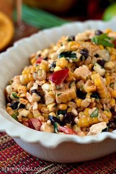 Mexican Corn Salad - The fresh and fantastic flavors in this salad are perfect for any Cinco de Mayo fiesta! de mayo party ideas food appetizers dip recipes Mexican Corn Salad - A Family Feast® I Love Food, Good Food, Yummy Food, Tasty, Clean Eating, Healthy Eating, Mexican Corn Salad, Mexican Cheese, Cooking Recipes
