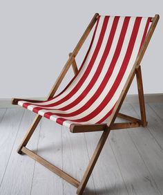 stripey vintage deck chair by deja ooh | notonthehighstreet.com