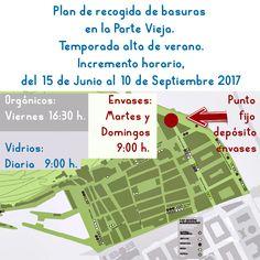 El Ayuntamiento de Donostia - San Sebastián,  incrementa la frecuencia de recogida de las diferentes fracciones de basura en la #ParteVieja Más info, en nuestra web.