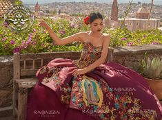 Get the beautiful Virgen de Guadalupe Embroidered Quinceañera Dress by Ragazza and other amazing Ragazza quinceanera dresses on Mi Padrino. Quinceanera Dress Stores, Mexican Quinceanera Dresses, Quinceanera Party, Ball Gown Dresses, 15 Dresses, Evening Dresses, Fashion Dresses, Quince Dresses Mexican, Charro Dresses