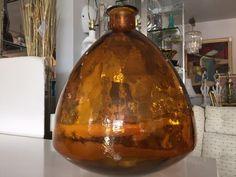 Mid Century, Vintage Monumental Orange Glass Vase by FLORIDAMODERN33405 on Etsy