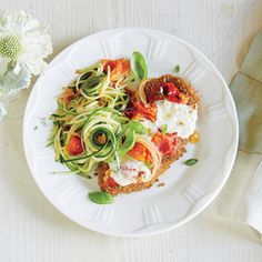 Chicken Parmesan over Zucchini Noodles | MyRecipes.com | MyPlate