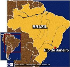 "Rio de Janeiro was discovered on January (Janeiro in Portuguese) 1, 1502 by Portuguese navigators who mistook the entrance of Guanabara Bay for the mouth of a river (rio in Portuguese). Sixty years later because French traders in search of pau-brasil (Brazilwood) were routinely ""visiting"" the area, the Portuguese crown established the city of Sao Sebastiao do Rio de Janeiro (Nowadays known only as Rio de Janeiro)."