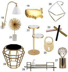 Get the Look: 34 Brass Accents - StyleCarrot