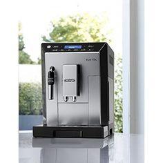 Machine à café expresso compacte avec broyeur et au design élégant. Machine A Cafe Expresso, Robot, Design, Espresso Coffee, Coffeemaker, Robots