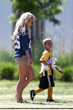Britney at her boys' soccer games on Sunday.
