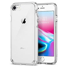 iPhone 7 Case, iPhone 8 Case Spigen® [Ultra Hybrid] [2nd Gen] iPhone 7 Case Cover No yellowing effect, Reinforced Camera Protection and Air Cushion Technology [Clear back panel] + [TPU bumper] for iPhone 7 (2016/2017) / iPhone 8 (2017) - (042CS20927) - Crystal Clear