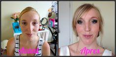 Maquillage pour un mariage  Avant/Après