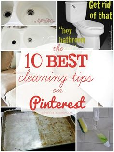 I0 Best Cleaning Tips on Pinterest