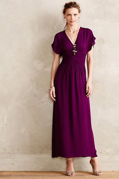 Epilogue Maxi Dress #anthropologie I love maxi dresses and this color would be fabulous for me.