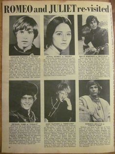 Romeo and Juliet, Olivia Hussey, Len Whiting, Full Page Vintage Clipping