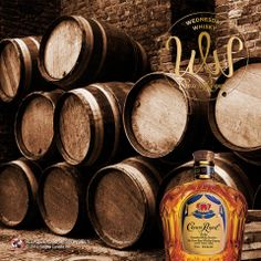 Around one thousand barrels of Crown Royal are produced daily.