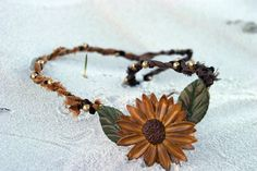 Polymer Clay Sunflower Necklace by SouthernGalsDesigns on Etsy, $24.99