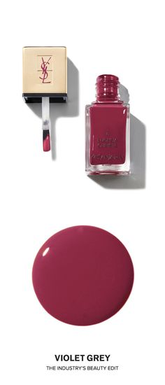 Yves Saint Laurent in La Laque Nail Lacquer in 8 Fuchsia Cubiste | A new generation of nail lacquers, that is both elegant and practical, is presented in a sleek, elongated glass bottle imprinted with the timeless YSL logo. | Shop now on #VioletGrey, The Industry's Beauty Edit