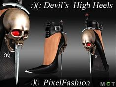 :)(: Devil 's High heels ( stiletto  for Halloween , vampire , goth or just sexy girl :)