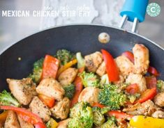 This One Pot Paleo Mexican Chicken Stir Fry is a delicious healthy meal that will fill you up fast! Paleo, whole 30 and take shape for life compliant.