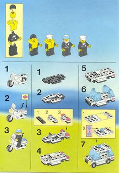 LEGO 6540 Pier Police instructions displayed page by page to help you build this amazing LEGO Town set Lego Police, Vintage Lego, Lego Design, Lego Architecture, Lego Instructions, Cool Lego, Lego Building, Lego Sets, Legos