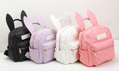 BUNNY EARS backpack wonderland rabbit pastel cute kawaii harajuku small bag amo
