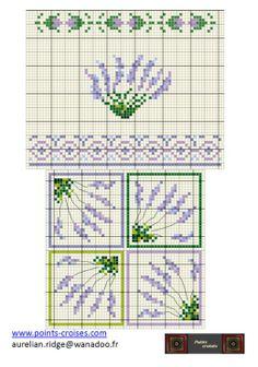 Gallery.ru / Фото #107 - Лаванда / ESPIGOLS petites - lekar Lavender Bags, Lavender Flowers, French Lavender, Lavander, Biscornu Cross Stitch, Cross Stitch Embroidery, Cross Stitching, Embroidery Monogram, Hand Embroidery