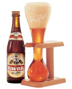 Kwak beer. Rumour has it you have to leave your shoe behind some bars as a deposit on the handsome, mini yard of ale, glass