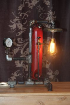Vintage Steampunk Lamp Steamtorch Repurposed by MennoGirl on Etsy, $215.00