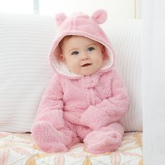 Mud Pie Sweetheart Baby Girl Pink Sherpa Bear Bunting One-Piece Cute Little Baby, Cute Baby Girl, Cute Babies, Cute Baby Boy Images, Cute Baby Pictures, Storing Baby Clothes, Baby Kids Clothes, Beanie Baby Costumes, Cute Kids Photography