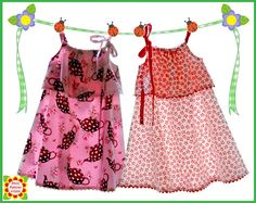 """Silly Milly"" girls dress PATTERN (in sizes 2 to 12) Sewing Pattern for Children. This is on my ""To Make for One of the Special Little Girls in My Life"" list!"