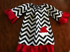 Chevron Christmas dress. Can use design with different colors to match the holiday :)