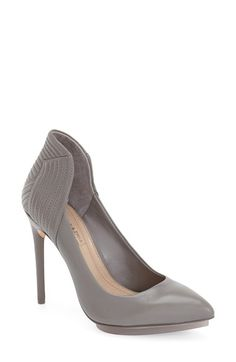 Free shipping and returns on BCBGMAXAZRIA 'Abbott' Pump (Women) at Nordstrom.com. A curvy, channel-quilted topline amps up the sultry effect of a svelte pointy-toe pump shaped from supple leather and set on a slender stiletto heel.