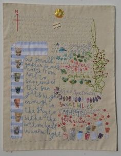 Vicky Lindo -- a stitched map of her garden