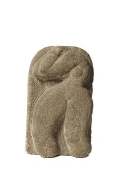 Serge PONOMAREV (1911 - 1984) - Femme, Sculpture en pierre, taille directe