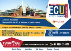 in at Edith Cowan University and open doors for University Open Days, Colleges In Australia, Track And Field Events, Toronto, Student Lounge, Life Satisfaction, Visa, Great Life, Ielts