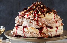 Black Forest Pavlova A GORGEOUS, SHOW-STOPPING DESSERT WHERE EVERY MOUTHFUL DELIVERS BOTH CHOCOLATE AND CHERRIES