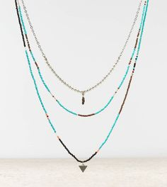 AEO Beaded Multi Strand Necklace