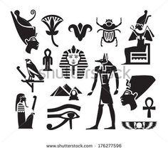 egyptian symbols of royalty | Egyptian Symbols free vector