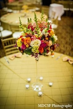 indian wedding reception decor floral gold http://maharaniweddings.com/gallery/photo/12135