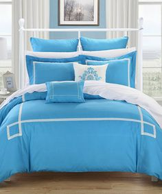 Look what I found on #zulily! Blue Woodford Comforter Set by Chic Home Design #zulilyfinds