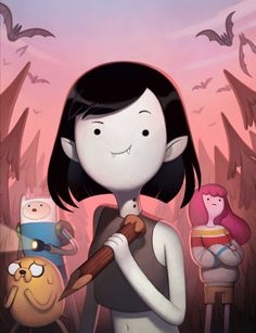 """The Adventure Time Mini-Series: """"Stakes,"""" is an upcoming 8-part miniseries from the American animated television series Adventure Time created by Pendleton Ward and produced by Frederator Studios. The miniseries is based on the show Adventure Time. In this multi-part series, Finn and Jake face a new threat to Ooo after Bonnibel's science project unleashes ghosts from Marceline's past. The mini-series is slated for airing on Monday, November 16 and concluding Thursday, November 19 at 8 p.m..."""